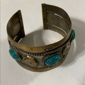 Jewelry - Bronze and turquoise cuff bracelet